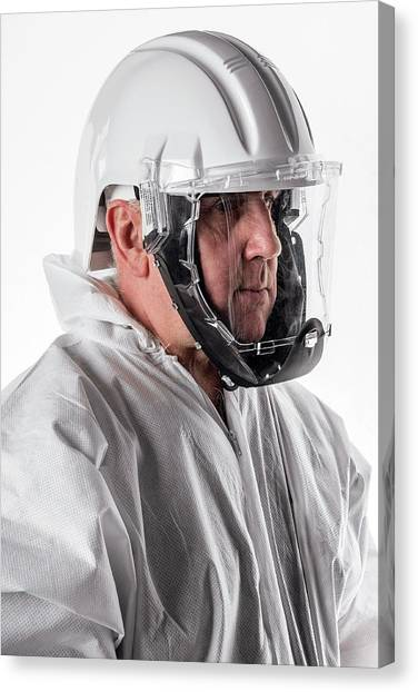 Hard Hat Canvas Print - Protective Safety Clothing by Crown Copyright/health & Safety Laboratory Science Photo Library