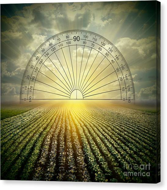 Protractors Canvas Print - Protracted Sunset by Kitty Bitty