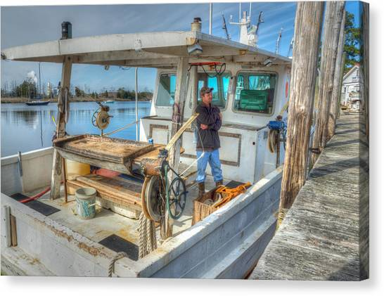 Proud Fisherman Canvas Print