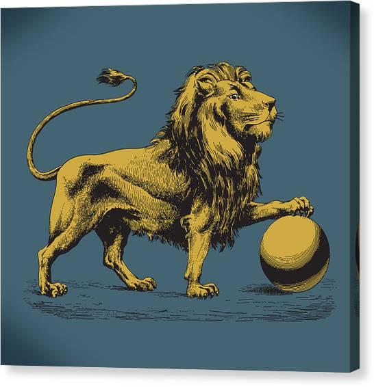 Proud Lion Canvas Print by Viv Griffiths