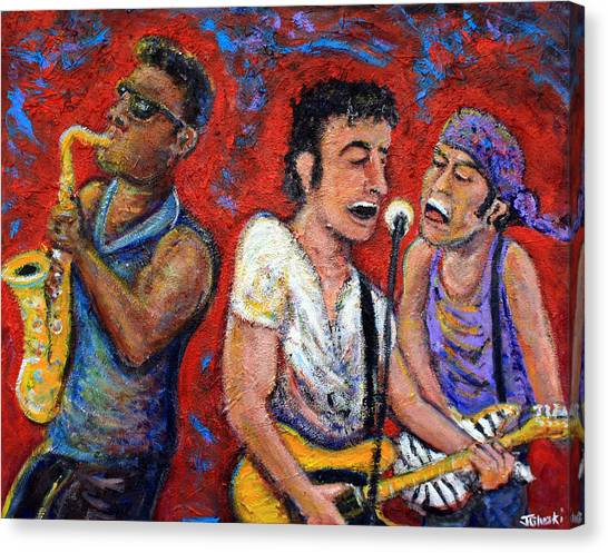 Bruce Springsteen Canvas Print - Prove It All Night Bruce Springsteen And The E Street Band by Jason Gluskin