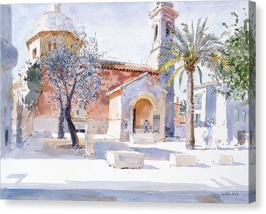 Southern France Canvas Print - Provencal Church by Lucy Willis