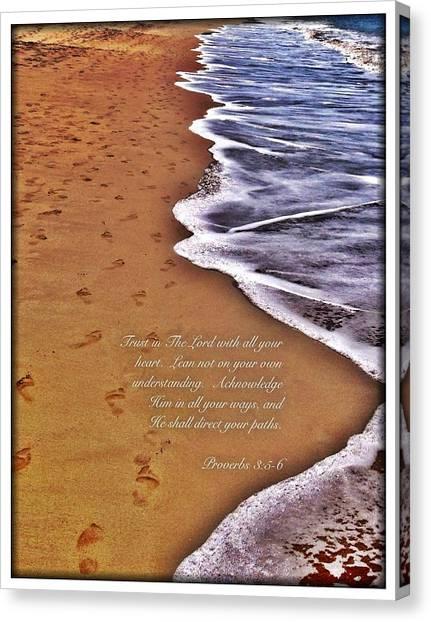 Proverbs 3 5 Canvas Print