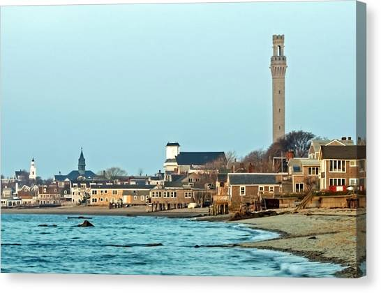 Provincetown Bay And Monument Canvas Print