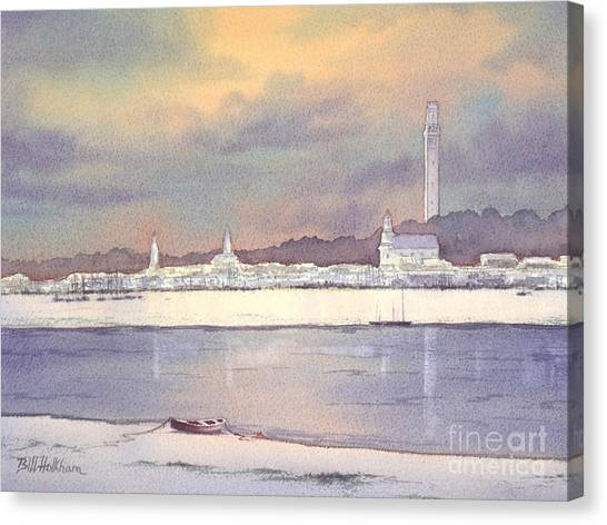 Provincetown Evening Lights Canvas Print