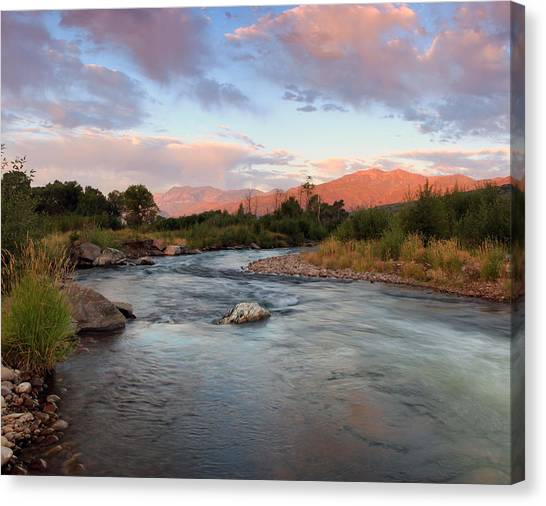 Provo River Sunrise Canvas Print