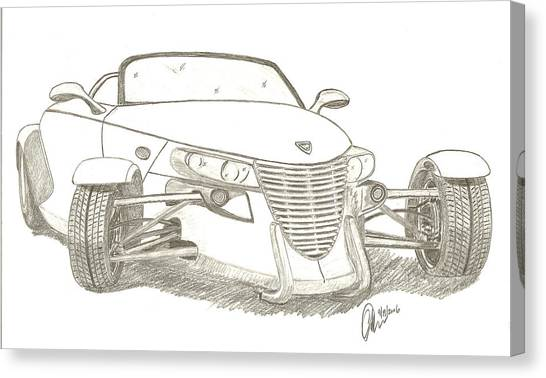 Prowler Sketch Canvas Print