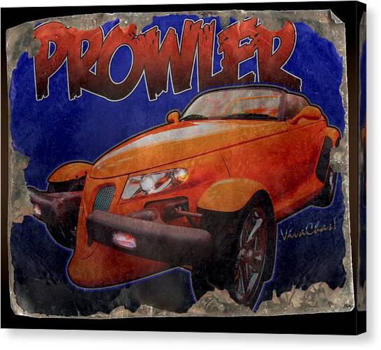 Prowler Tin Sign Discovered In 2153 Canvas Print