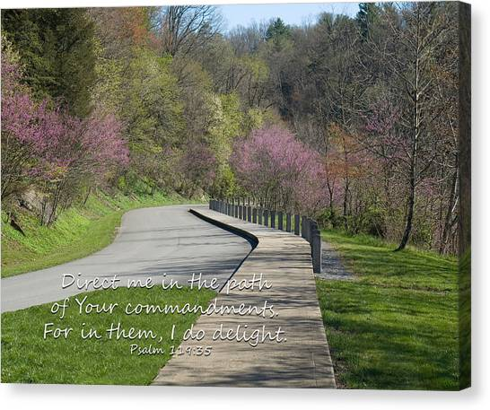 Psalm 119 Direct Me In The Path Canvas Print