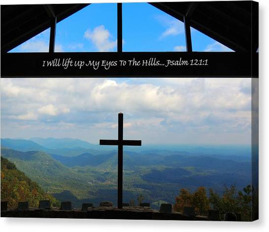Psalm 121 Canvas Print by Judy  Waller