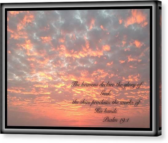 Psalm 19 11 Canvas Print