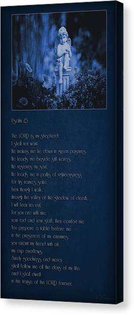 Psalm 23 - The Lord Is My Shepherd... Canvas Print