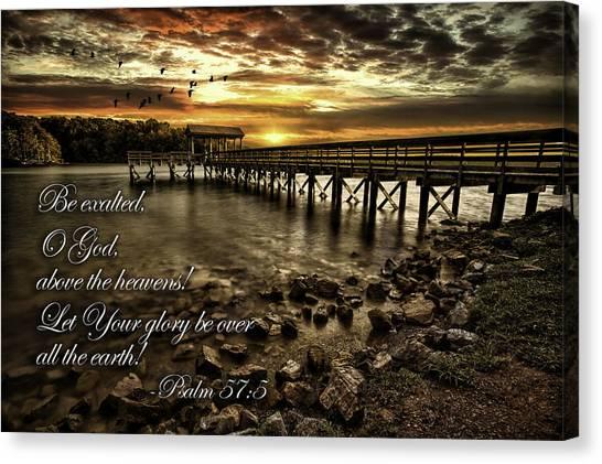 Psalm 57-5 Canvas Print