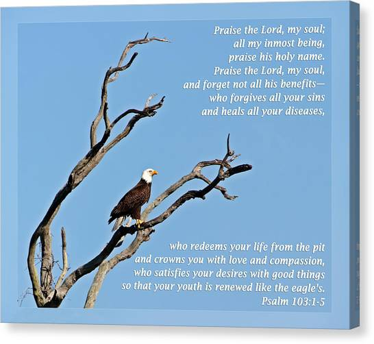 Psalm 103 1-5 Canvas Print
