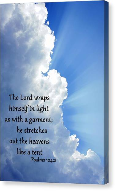 Psalms 104 2 Canvas Print by Thomas Fouch