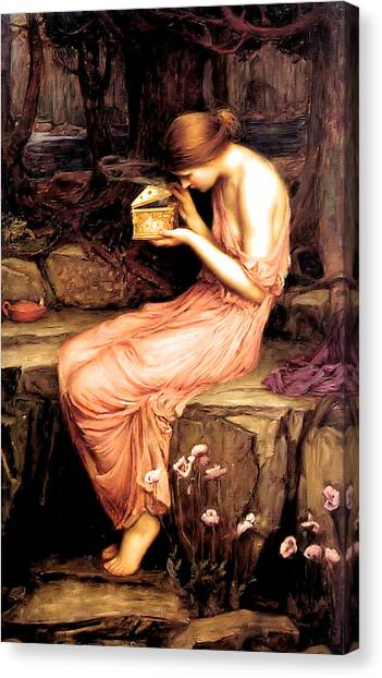 Venus Canvas Print - Psyche Opening The Golden Box 1903 by Philip Ralley
