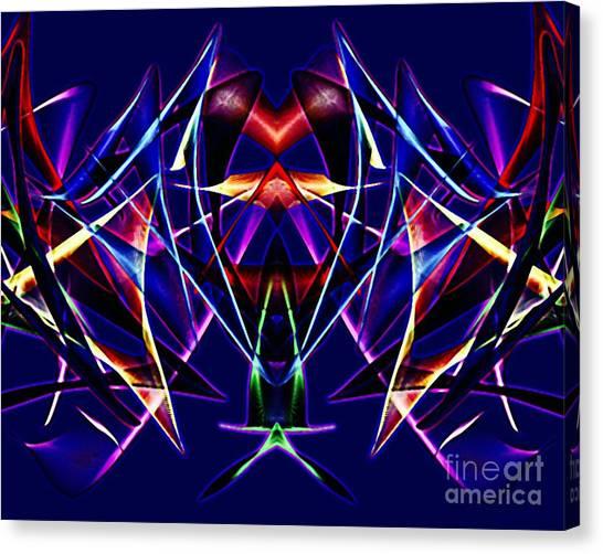 Psychedelic Bat N Wings Canvas Print