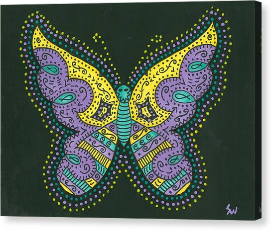 Psychedelic Butterfly Canvas Print