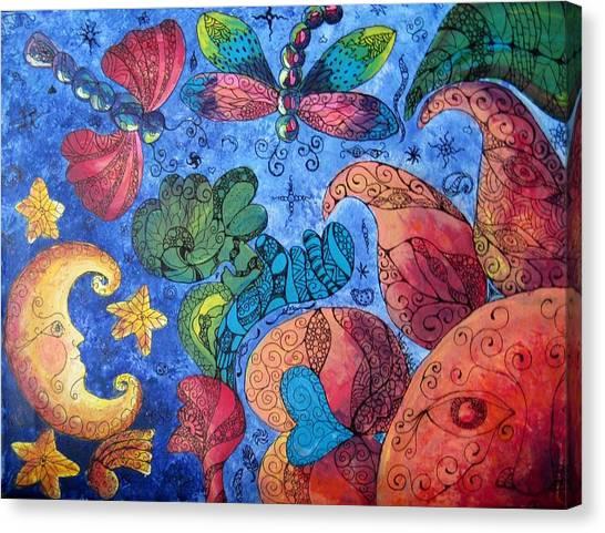 Psychedelic Dreamscape Canvas Print