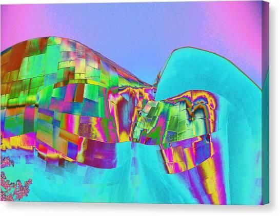 Psychedelic Hendrix Hall Canvas Print