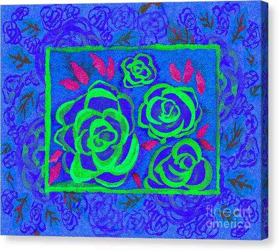 Psychedelic Roses - Summer Canvas Print