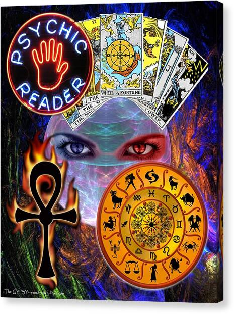Psychic Reader Canvas Print
