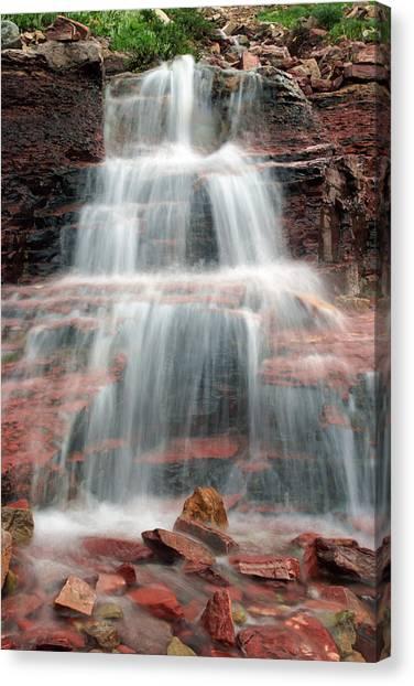 Ptarmigan Trail Waterfall No.4 Canvas Print