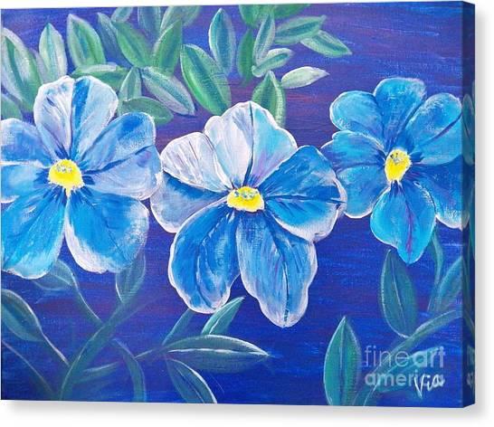 Ptg. Blue Million Bells Canvas Print