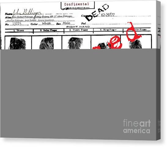 Public Enemy No 1. Confidential Canvas Print by Brittany Perez