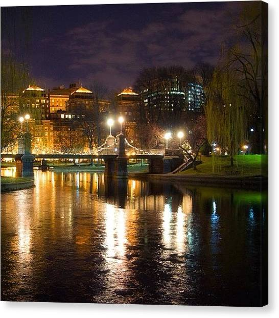 Massachusetts Canvas Print - #publicgarden #boston by Joann Vitali