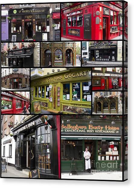 Pubs Of Dublin Canvas Print