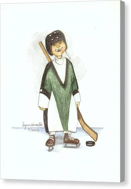 Puck Canvas Print by Lynn Darnelle