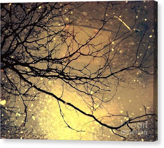 Puddle Art 3 Canvas Print