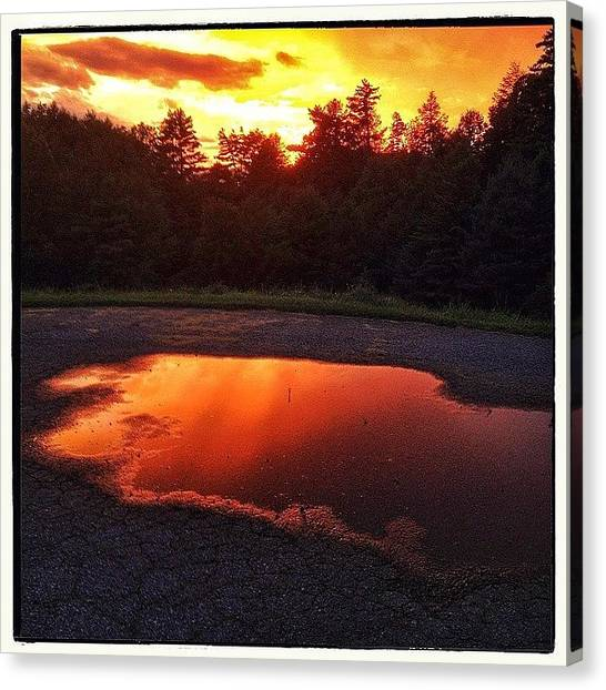 Appalachian Mountains Canvas Print - Puddle Of Fire by Paul Cutright