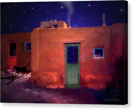 Pueblo Cat Canvas Print