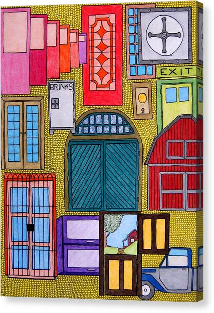 Puertas Canvas Print