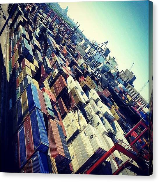 Tetris Canvas Print - Puerto De Buenos Aires...#tetris by German Banchio
