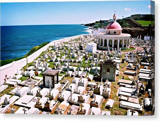 Puerto Rican Cemetery Canvas Print