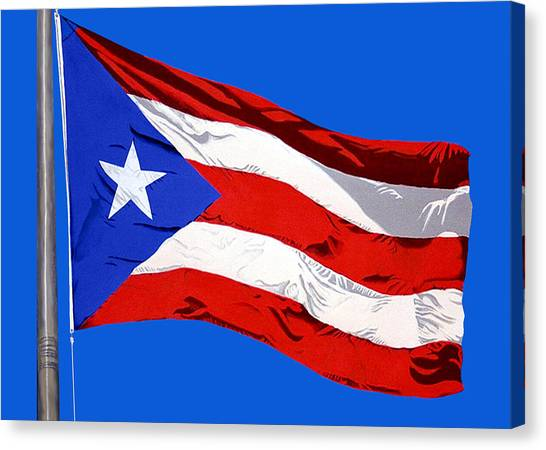 Puerto Rican Flag Canvas Print