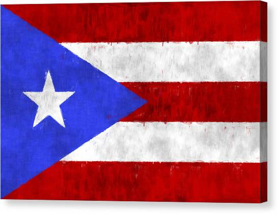 Puerto Rico Canvas Print - Puerto Rico Flag by World Art Prints And Designs