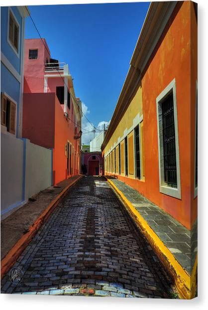 City Canvas Print - Puerto Rico - Old San Juan 009 by Lance Vaughn