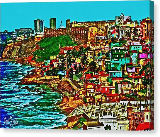 Puerto Rico Old San Juan  Canvas Print