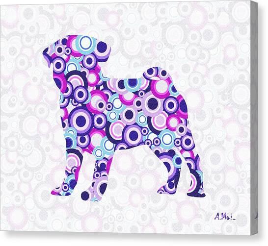 Pug - Animal Art Canvas Print