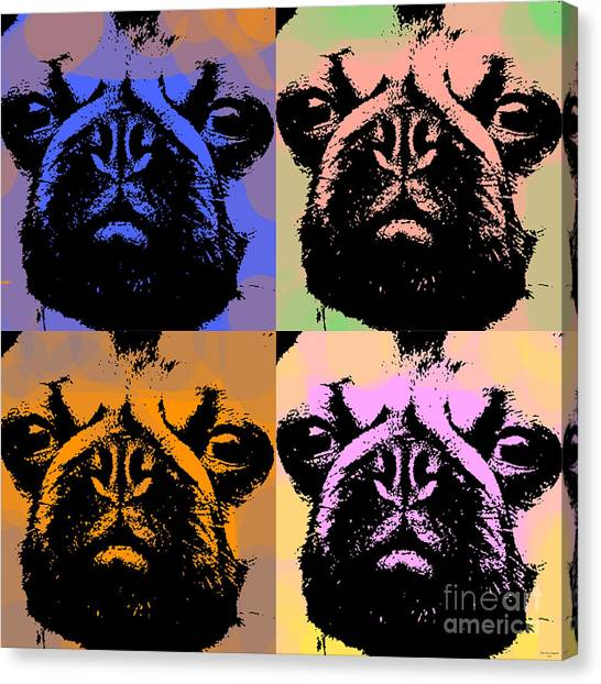 Pug Pop Art Canvas Print