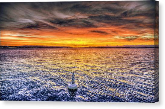 Puget Sound Sunset Canvas Print