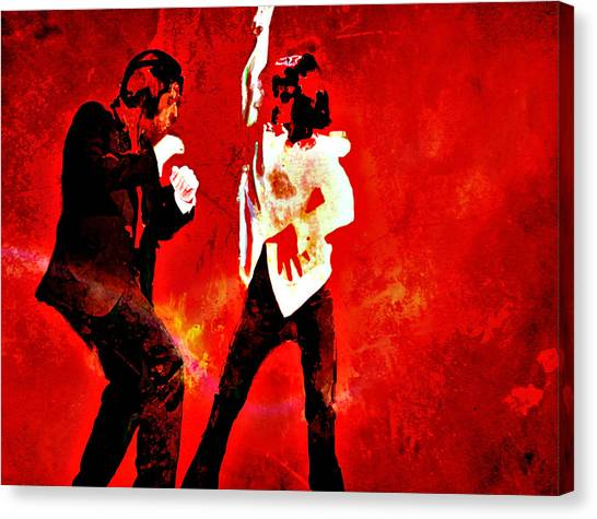 Pulp Fiction Canvas Print - Pulp Fiction Dance 2 by Brian Reaves