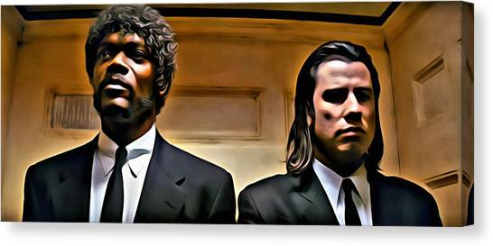 Pulp Fiction Canvas Print - Pulp Fiction by Florian Rodarte