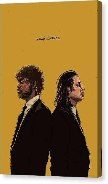 Pulp Fiction Canvas Print - Pulp Fiction by Jeremy Scott