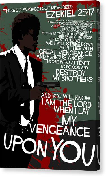 Pulp Fiction Canvas Print - Pulp Fiction Movie-quote-with-a-gun by Edgar Ascensao