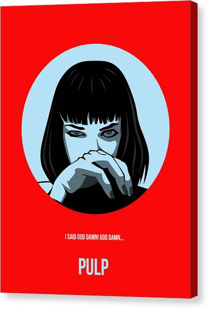 Pulp Fiction Canvas Print - Pulp Fiction Poster 3 by Naxart Studio